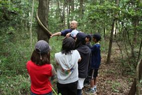 花咲園芸総研 舘林正也 活動の様子 つくばインターナショナルスクール #1 Forest Walkabout